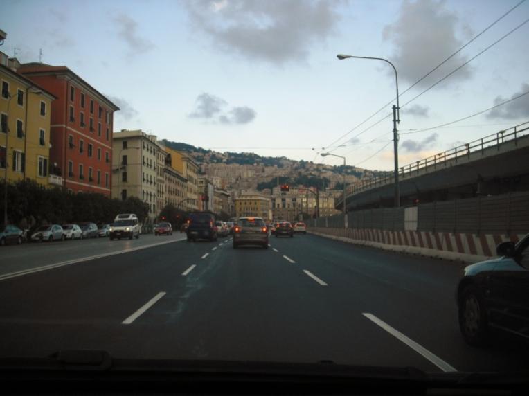 chemin vers gênes italie
