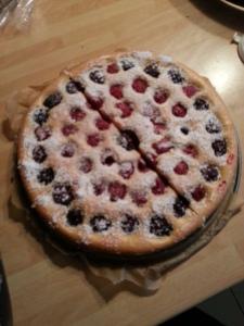 gâteau framboises mûres teaso