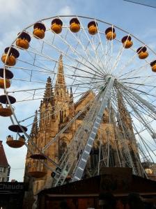 grande roue à la place de la réunion mulhouse noël