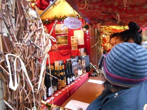 stand vin marché noël colmar