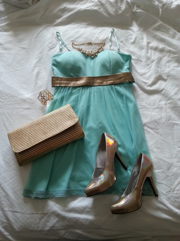 tenues mariage robe bleu vert