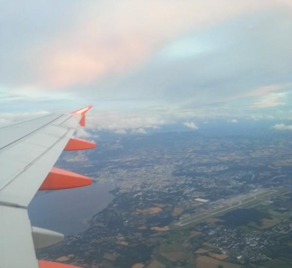 vue genève depuis avion