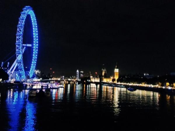 Londres de nuit depuis Charing Cross