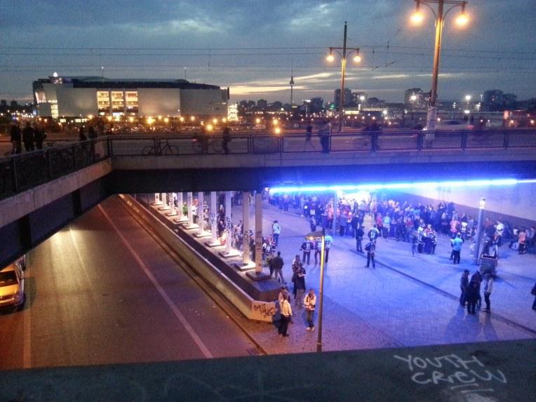 warschauerstrasse berlin la nuit